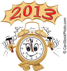 2013 - wake up and celebrate - new years eve party, alarm...