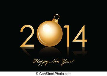 2014, έτος , ευτυχισμένος , φόντο , καινούργιος