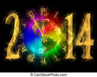 2014, ευτυχισμένος , καινούργιος , αμερική , - , pf , έτος