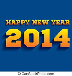 2014, 年, 幸せ, 創造的, 新しい