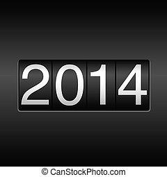 2014, 年, 新しい, 走行距離計