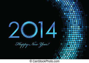 2014, 幸せ, 新しい, 背景, 年