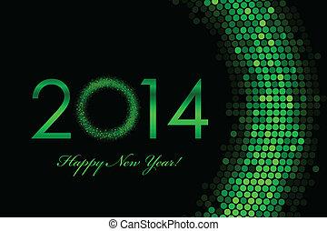 2014, 绿色的背景