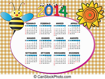 2014, 蜂, そして, ひまわり, イタリア語