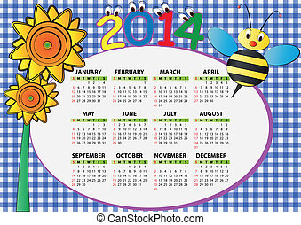 2014, 蜂, そして, ひまわり