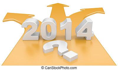 2014, 選択, 道, 方法, -, フォーク, 概念, 年