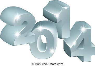 2014, 银, 装饰品, 3d