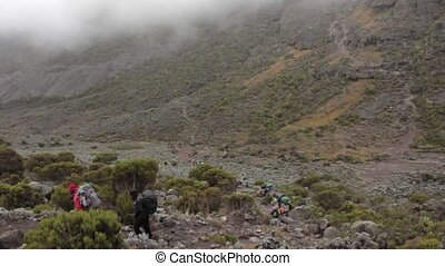 2014 02 Kilimanjaro, Tanzania: Machame Route on mountain. 4 day
