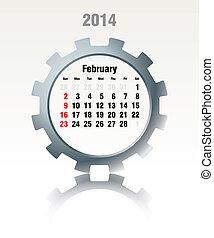 2014, 2 月, -, カレンダー