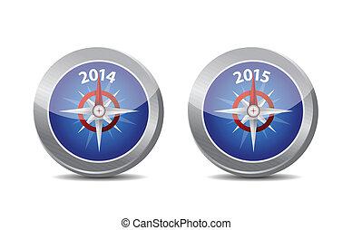2014, 2015 compass guide illustration design