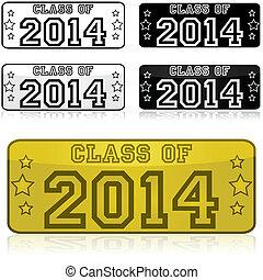 2014, adesivi, classe