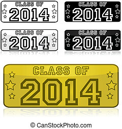 2014, adesivos, classe
