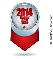 2014, anno, felice, -, nuovo
