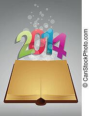 2014, antico, libro