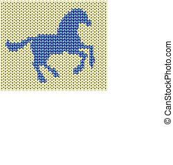 2014 blue wowen horse