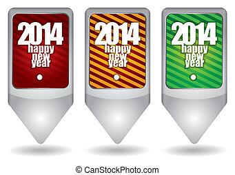 2014, boldog, -, újév