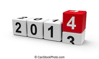 2014, branca, cubos