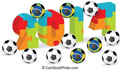2014 Brazil soccer ball