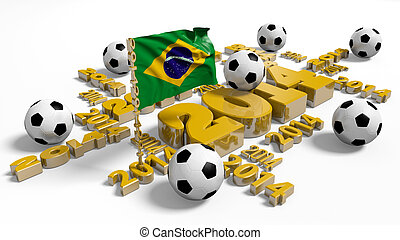 2014 Brazilian Flag with Balls