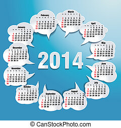 2014 bubble speech calendar