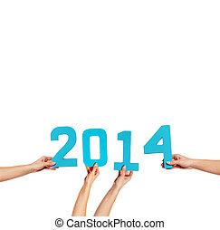 2014, célébration, nouvel an