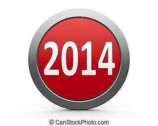 2014, calendário, ícone