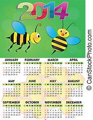 2014 calendar bee