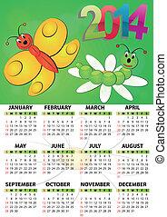 2014 calendar butterfly