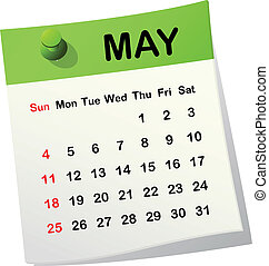 2014 calendar for May.