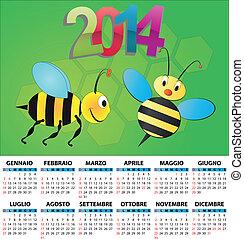 2014 calendar italy bee