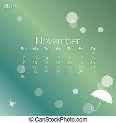 2014 calendar November, vector