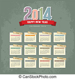 2014 Calendar paper design