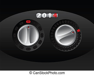 2014 calendar with rotateable car buttons
