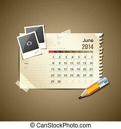 2014, calendario, giugno