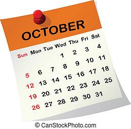 2014, calendrier, october.