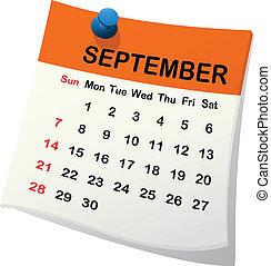 2014, calendrier, september.