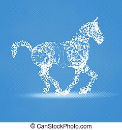 2014 Chinese New Year of the Horse abstract mesh composition. Abstract vector horse. Year of the horse.