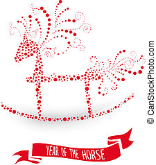 2014 Chinese New Year of the Horse illustration