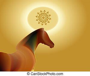 2014, chinesisches , lunar, jahreswechsel, von, der, pferd, tierkreis