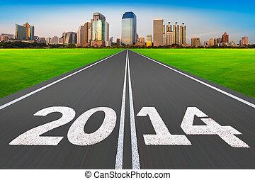 "2014, city., strada, concept"", moderno, ""new, anno"