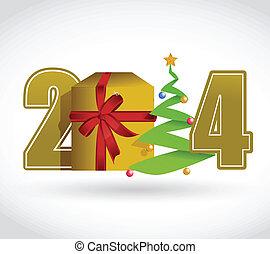 2014, conceptontwikkeling, kerstmis, illustratie