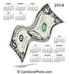 2014 Creative Financial Calendar
