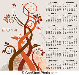 2014 Creative Floral Calendar