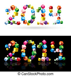 2014, cubes.