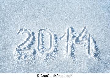 2014, escrito, neve