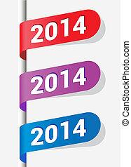2014, etiketten