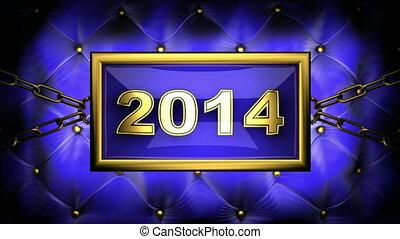 2014  on velvet background