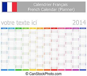 2014 French Planner Calendar