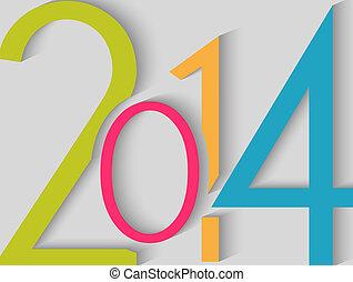 2014, frohes neues jahr, färben hintergrund