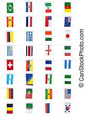 2014, futbol, campeonato, banderas